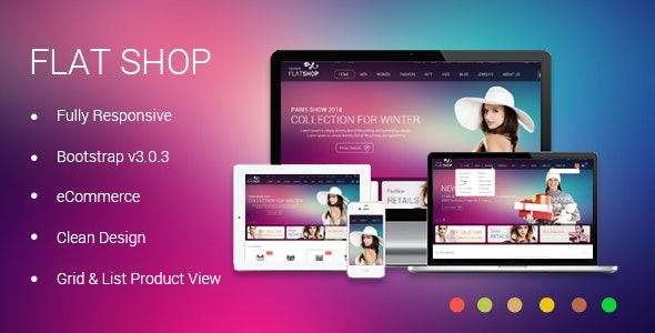 The New Flat Shop - HTML Template - Retail Site Templates