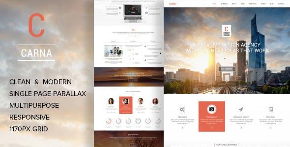Carna | Multi-Purpose Parallax PSD Landing Page
