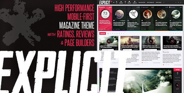 Explicit - High Performance Review/Magazine Theme - Blog / Magazine WordPress