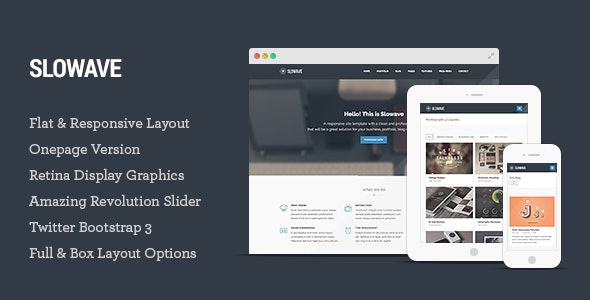 Slowave - Multipurpose Responsive HTML5 Template - Corporate Site Templates