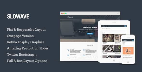 Slowave - Multipurpose Responsive HTML5 Template - Corporate Site Templates