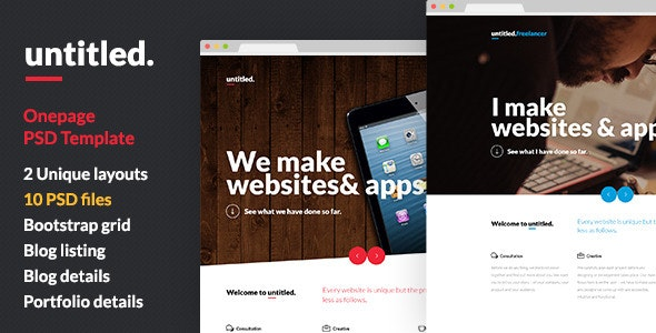 Untitled - Onepage Parallax PSD Template - Creative Photoshop