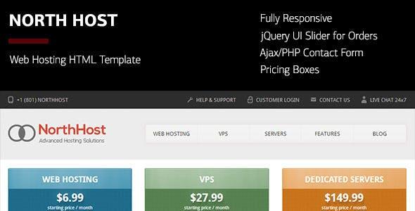nort host html hosting teması