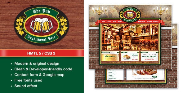 The Pub Traditional Beer - Theme - Restaurants & Cafes Entertainment