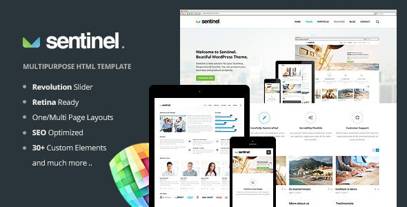 Sentinel - Responsive Multi-Purpose Template - Business Corporate