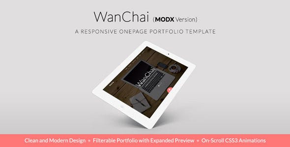 Download WanChai - Responsive Onepage Portfolio