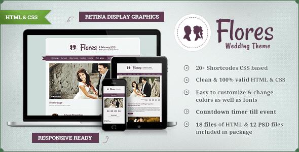 Flores - Elegant Wedding Template