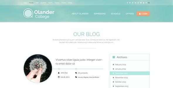 Olander - College PSD Template