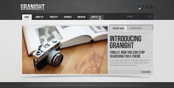 Granight PSD Web Template