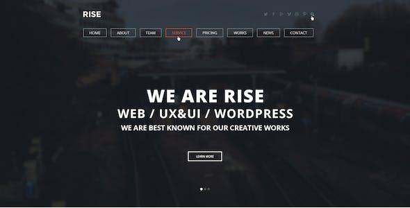 RISE -  OnePage Agency Portfolio Template