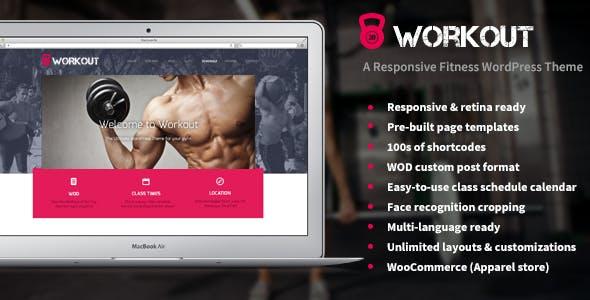 Workout - A Responsive WordPress Gym Theme