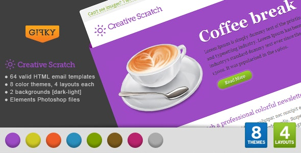 Creative Scratch Email Template - Email Templates Marketing