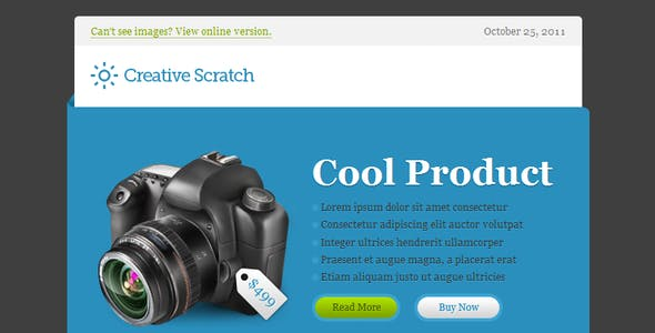 Creative Scratch Email Template