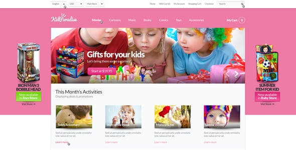 Opencart Kids Store Themes - Baby Nursery Infants Children Accessories Shop - KidParadise