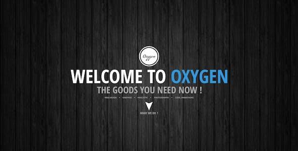 Oxygen One Page PSD Theme