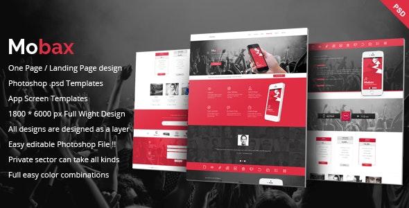 Mobax - App LandingPage Templates - Marketing Corporate