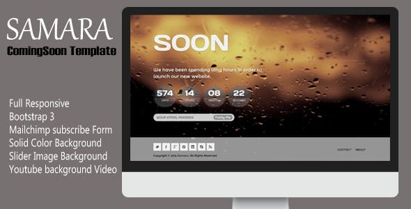 Samara - Responsive Coming Soon Template
