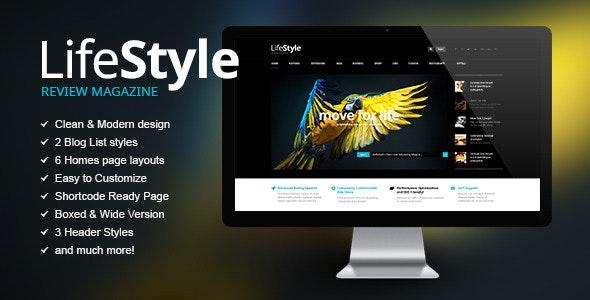 Life Style | News Magazine & Reviews PSD Theme - Miscellaneous PSD Templates