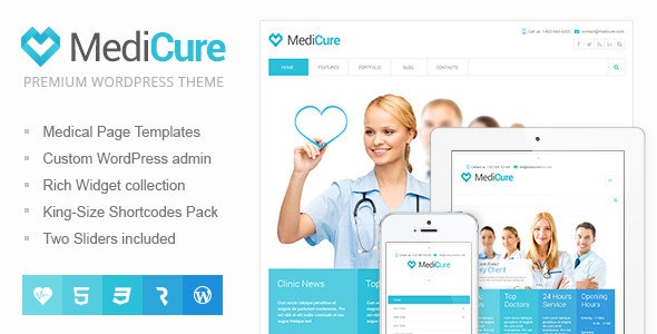 MediCure – Health  & Medical Wordpress Theme - Health & Beauty Retail