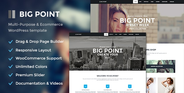 Big Point - Multi-Purpose & Ecommerce Theme - WooCommerce eCommerce
