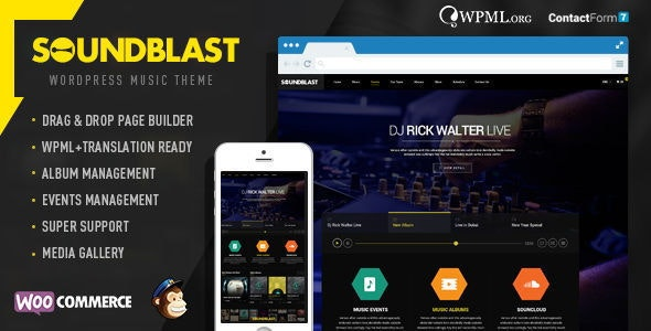 SoundBlast - Music Band WordPress Theme - Music and Bands Entertainment
