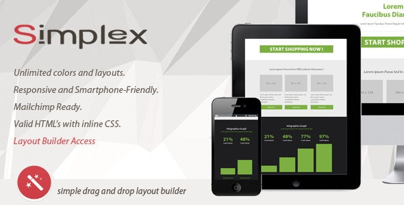 SIMPLEX - Responsive Email With Layout Builder - Newsletters Email Templates