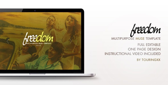 Freedom Multipurpose One Page Muse Theme - Creative Muse Templates