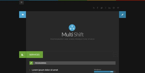 MultiShift | Multiuser vCard & Blog