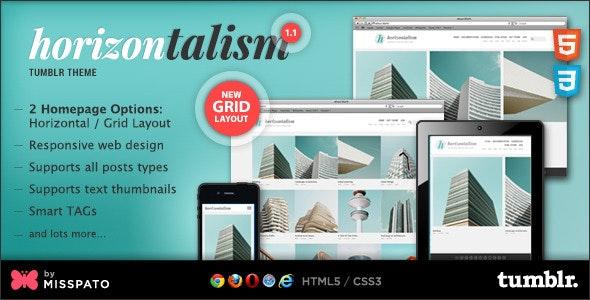 Horizontalism Tumblr Theme - Portfolio Tumblr