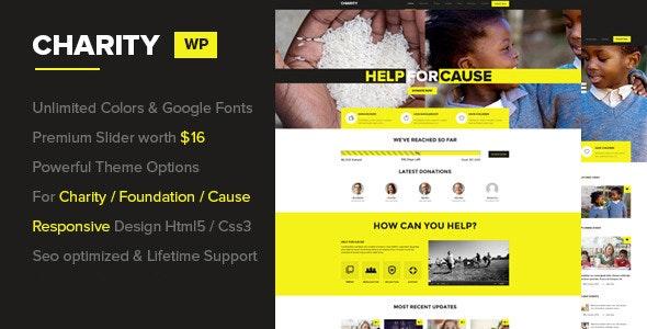 Charity WordPress Theme - Nonprofit WordPress
