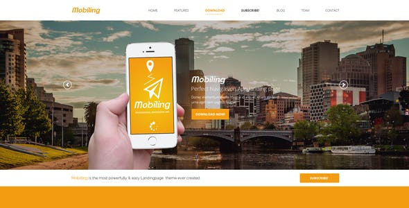 Mobiling - One Page App Landing Page