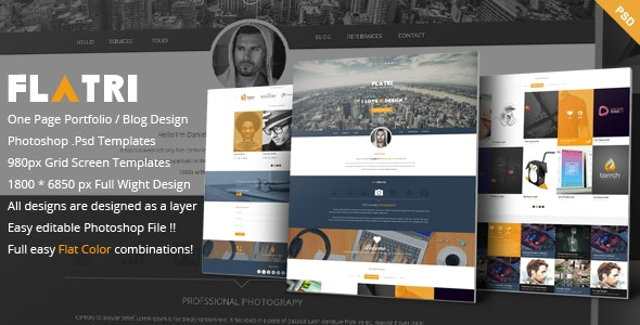 Flatri - OnePage Portfolio Template - Portfolio Creative