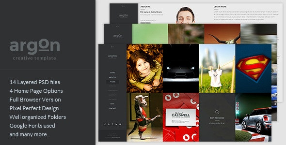 Argon - Creative PSD Template - Creative Photoshop