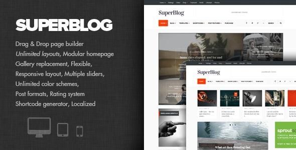 SuperBlog - Powerful Blog & Magazine Theme - Personal Blog / Magazine