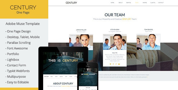 Century - Multi-Purpose Muse Template - Creative Muse Templates