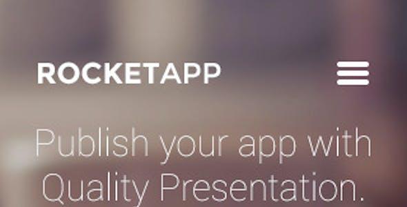 RocketApp - App Landing Page PSD