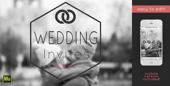 Wedding Invites - Muse Template - Muse Templates