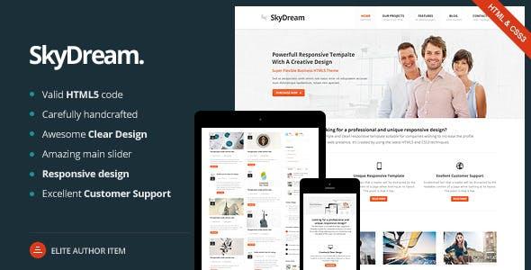SkyDream - Responsive HTML5 Template