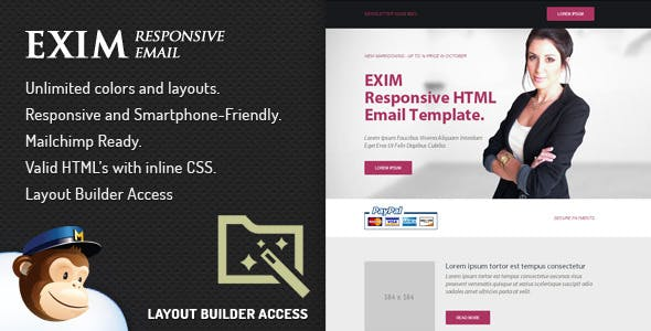 Exim - Email Template With Layout Editor