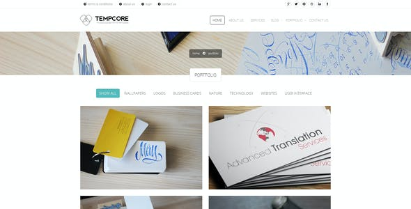 Tempcore - Business HTML5 Template