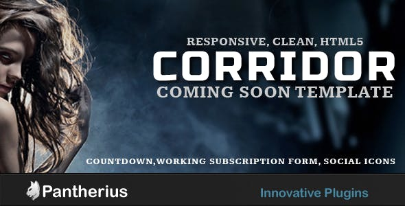 Corridor - Responsive, Clean, Coming Soon Template