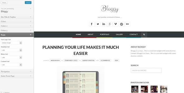 Bloggy WP - Responsive Minimalist WordPress Theme