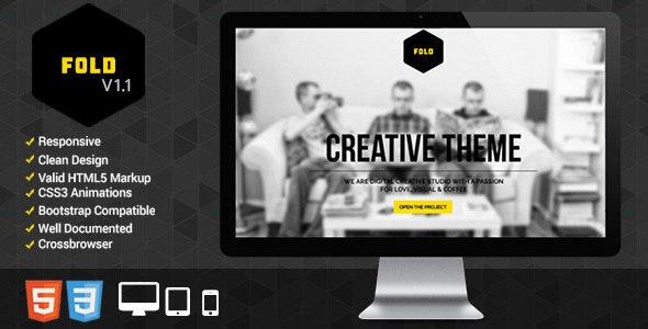 Fold Portfolio - Responsive Portfolio Template - Portfolio Creative