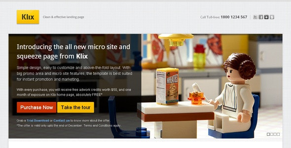 Klix Landing Page - Business Corporate