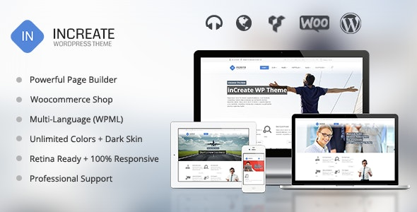 inCreate - Responsive MultiPurpose WordPress Theme - Corporate WordPress