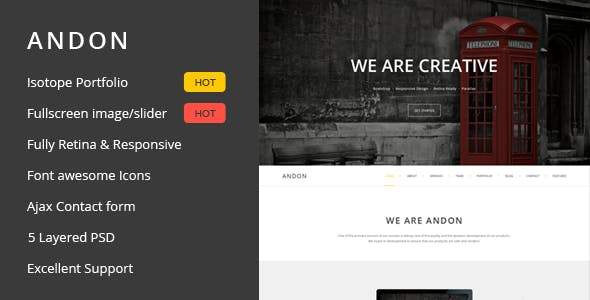 Andon - Responsive Parallax Onepage Template