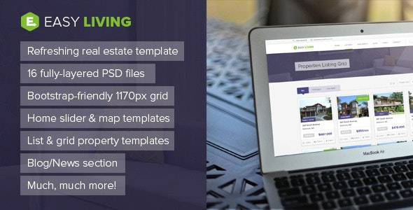 Easy Living - Real Estate PSD Template - Business Corporate