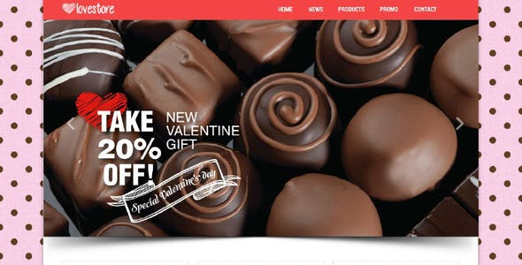 LoveStore - One Page Muse Template
