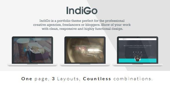 IndiGo - Responsive One Page Template