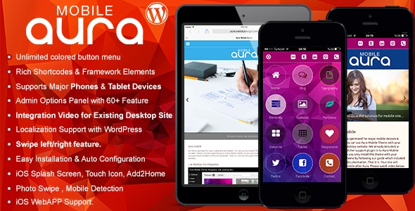 Aura Premium Mobile Theme by Webbu | ThemeForest